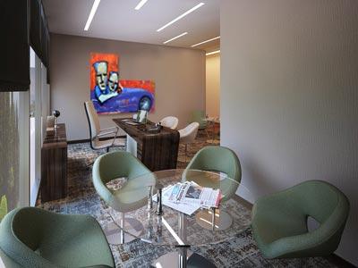 Modern schilderij Driving The Jaguar Interieur 1