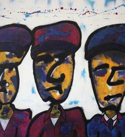 Modern Schilderij: 3 Gezicht