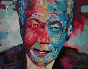 Figuratief schilderij van Nelson Mandela #2