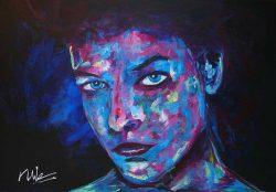"""Figuratief schilderij van een vrouw """"I See you"""""""
