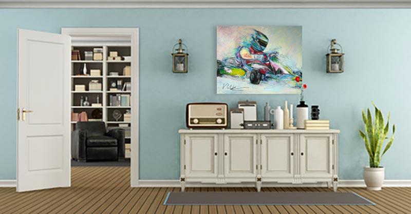 Kleurrijk schilderij GoKart Interieur 2