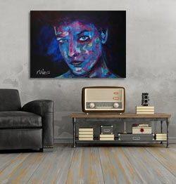 Figuratief schilderij I see you interieur 3