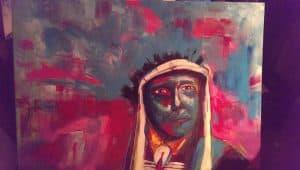 Kleurrijk schilderij Indiaan 3