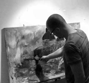 Jurjen Ruben een schilderij laten maken