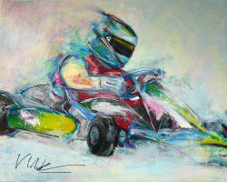 Kleurrijke schilderij: GoKart
