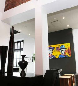 Modern schilderij Hands up! No !Ok... interieur-3