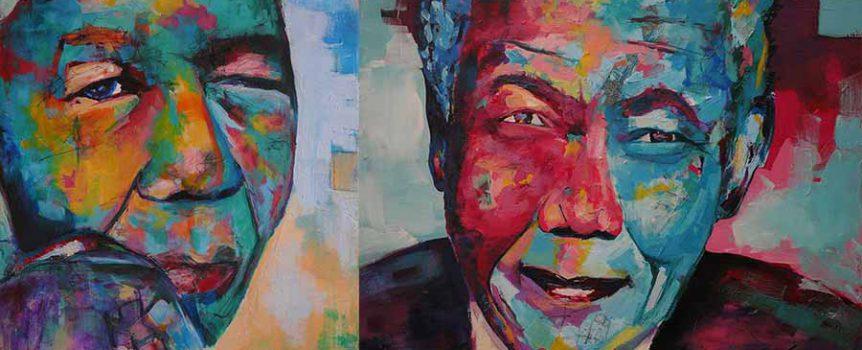 Nelson Mandela Schilderij