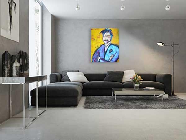 Kleurrijk schilderij Noussaka interieur 1