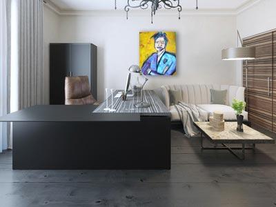 Kleurrijk schilderij Noussaka interieur 2