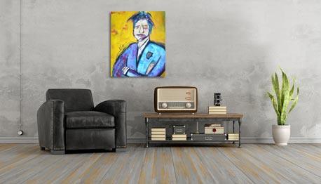 Kleurrijk schilderij Noussaka interieur 3