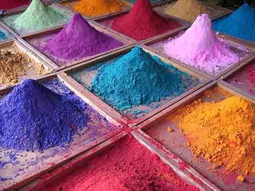 Pigmenten voor kleurrijke schilderijen