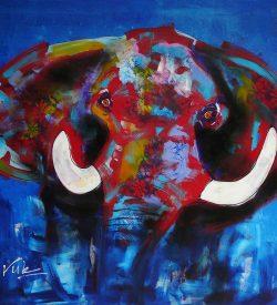 Dieren Schilderij van een olifant: Olifant