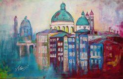 Stadsgezicht Schilderij van Venetië: Venice