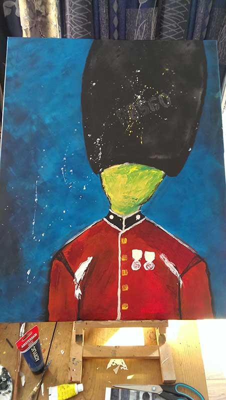 Schilderij Wachter 3