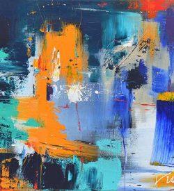 Abstract schilderij met verschillende kleuren: Abstract colors