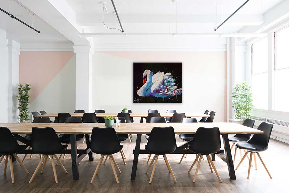 Dieren schilderij Zwaan interieur-2