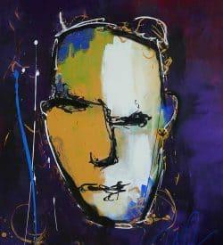 Modern schilderij van een abstract gezicht: Geen gezicht