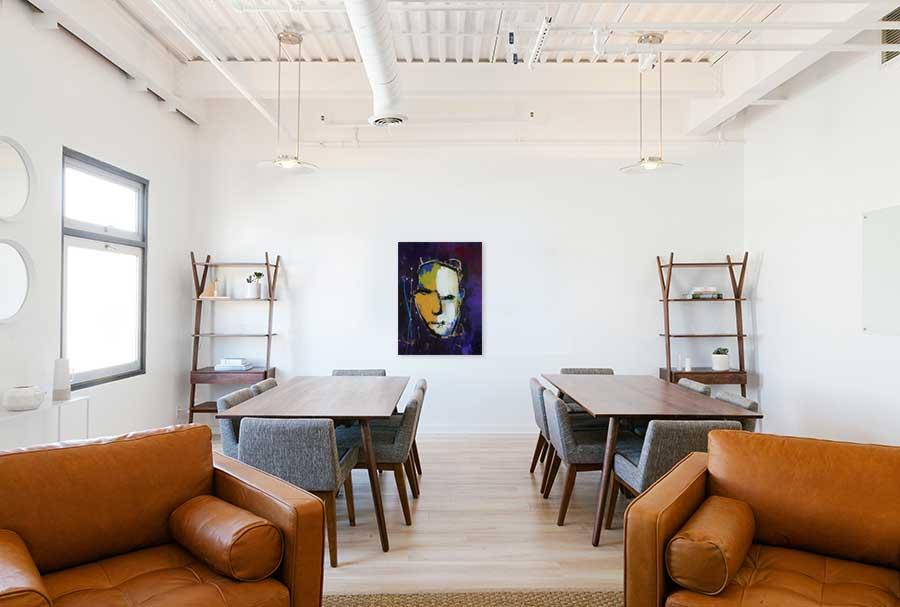 Modern schilderij Geen gezicht interieur-1