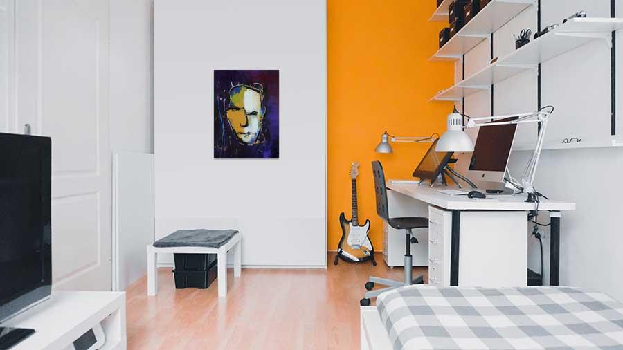 Modern Interieur Schilderij : Een heel modern schilderij bestaande uit negen delen elk deel