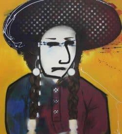 Modern schilderij -Native American