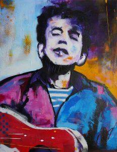 Modern schilderij Bob Dylan