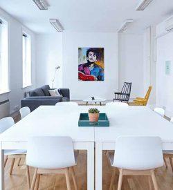 Modern schilderij Bob Dylan Interieur-3