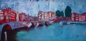Stadsgezicht Schilderij van Amsterdam