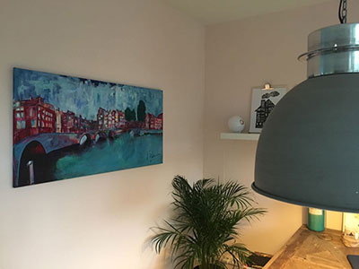 Modern schilderij Amsterdam