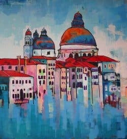 Stadsgezicht schilderij Venetië