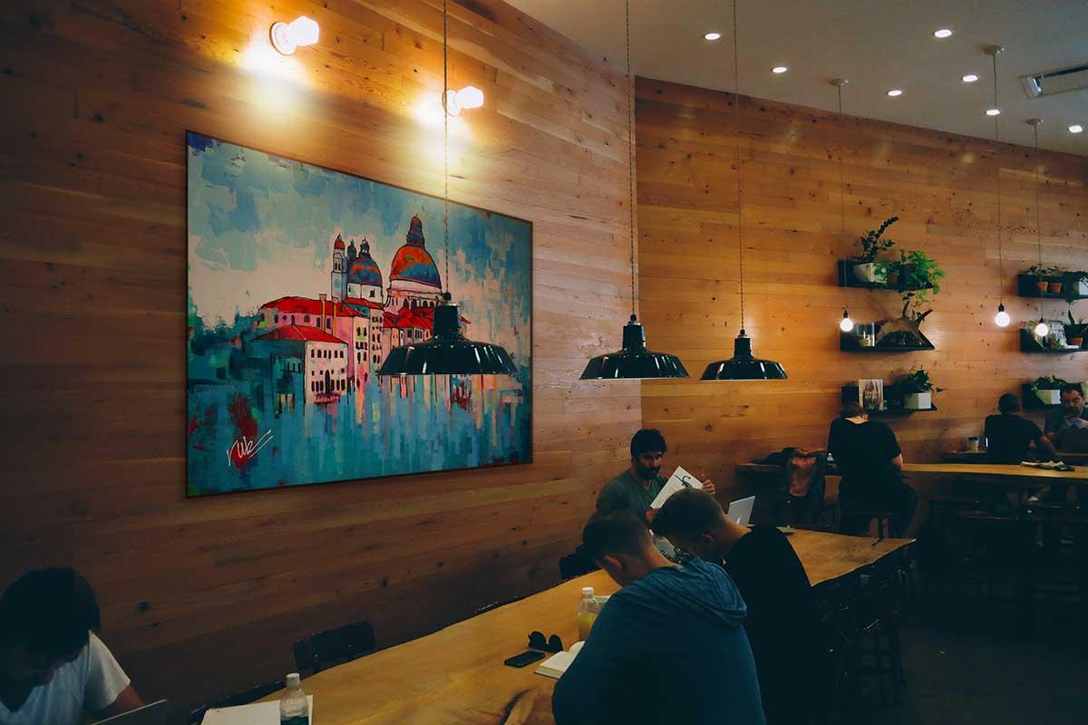Stadsgezicht schilderij Venetie interieur1