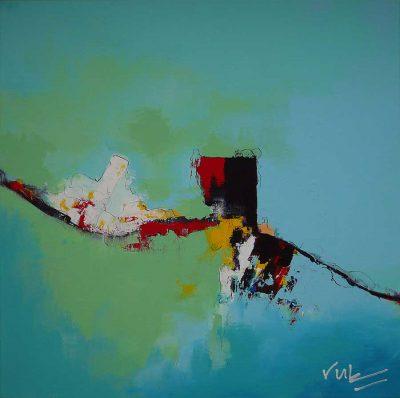 Abstract schilderij Aap