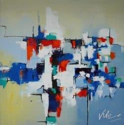 Abstract schilderij Maze
