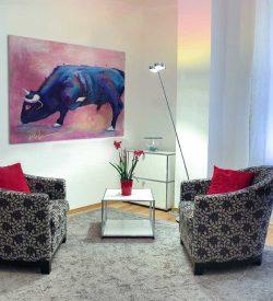 Dieren schilderij El Toro Interieur foto 1