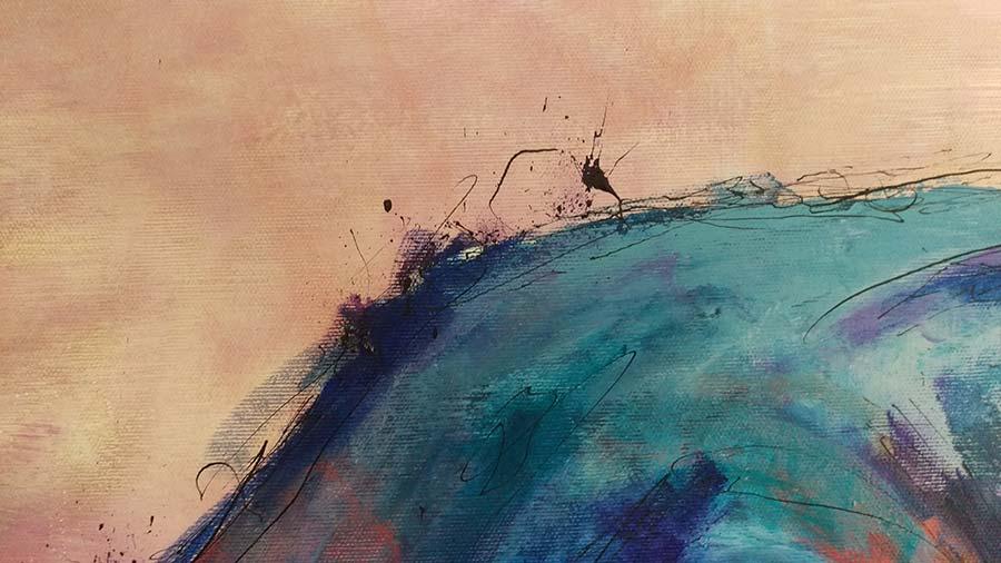 Detail 1 van stieren schilderij El toro