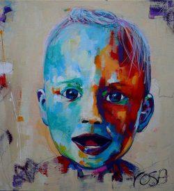 Portret schilderij van een peuter