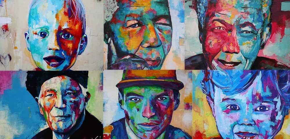 Laat een portret schilderij maken