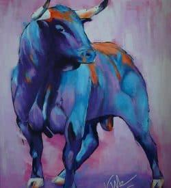 Dierenschilderij van een stier: Hermoso Toro