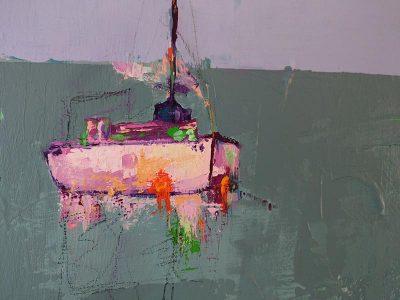 Modern schilderij Zeilboot detail 1