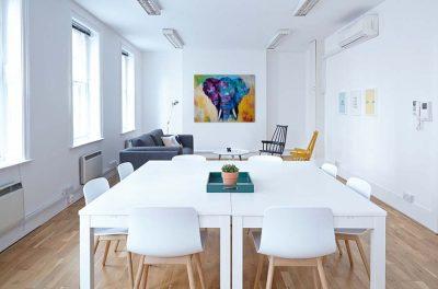 Modern schilderij van een Olifant interieur 2