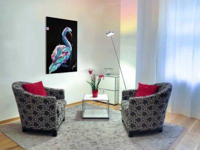 Schilderij van een zwaan interieur 1