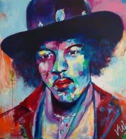 Modern schilderij van Jimi Hendrix