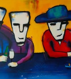"""Modern schilderij """"Maar verder zijn we normaal"""""""