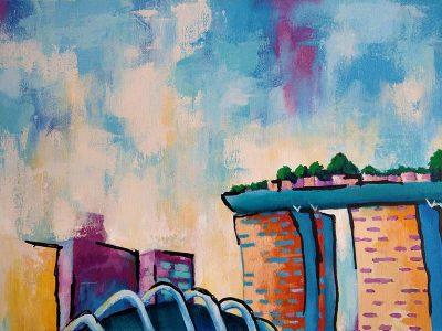 Kleurrjjk schilderij Singapore-2