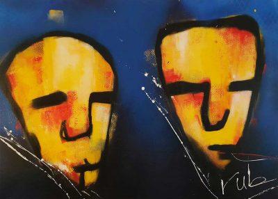 Modern schilderij Geelzicht