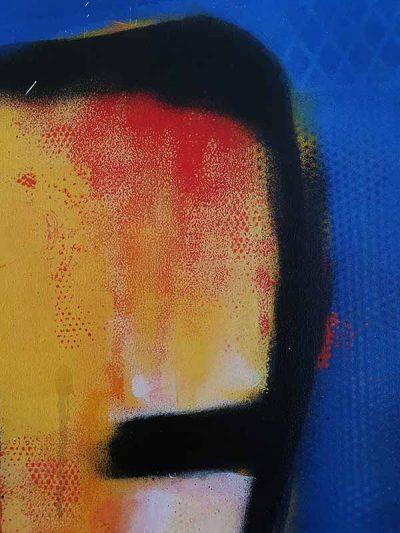 Modern schilderij Geelzicht - detail 3