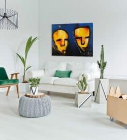 Modern schilderij Geelzicht interieur 1