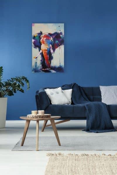Dierenschilderij Olifant 3 interieur 2