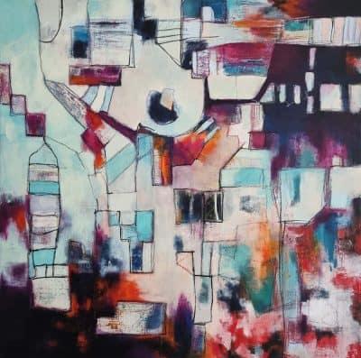 Abstract schilderij OrganizedChaos-1