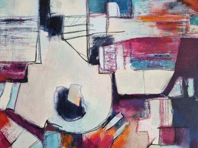Abstract schilderij Organized-Chaos-1-detail1