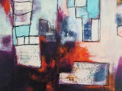 Abstract schilderij Organized-Chaos-1-detail2
